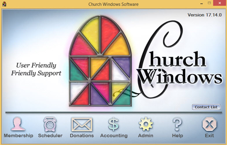 Church Windows allows to track memberships, donations, schedule events and manage accounting