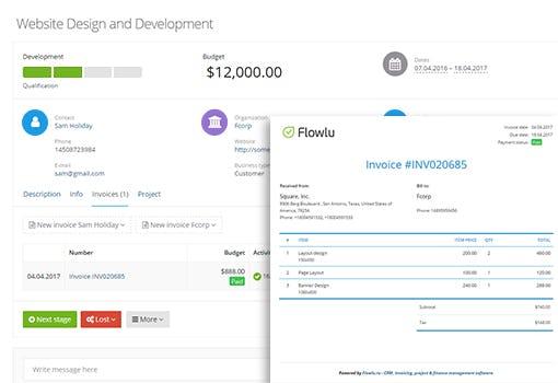 Flowlu Software - Flowlu Invoicing management