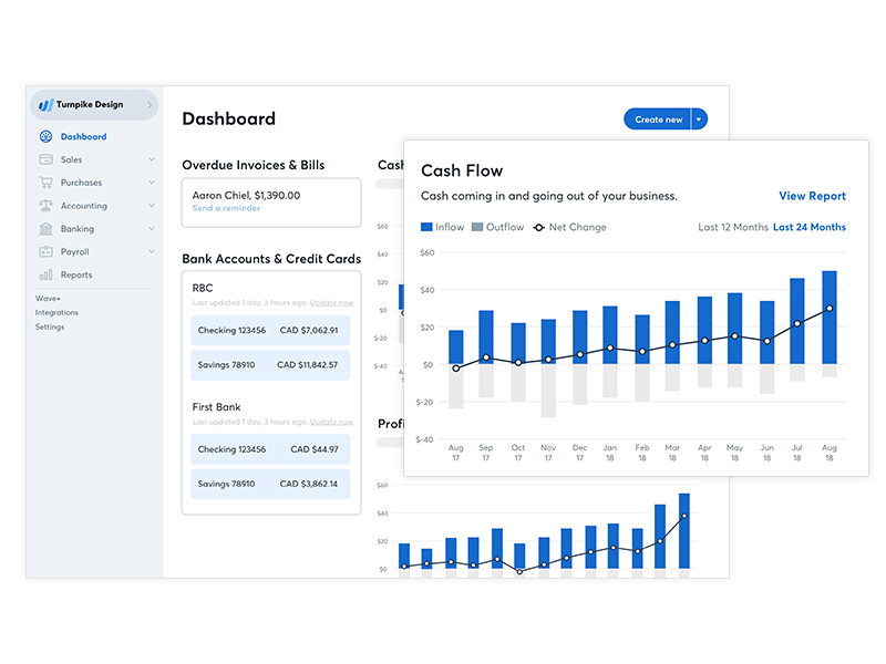 Wave Accounting Software - Wave Dashboard