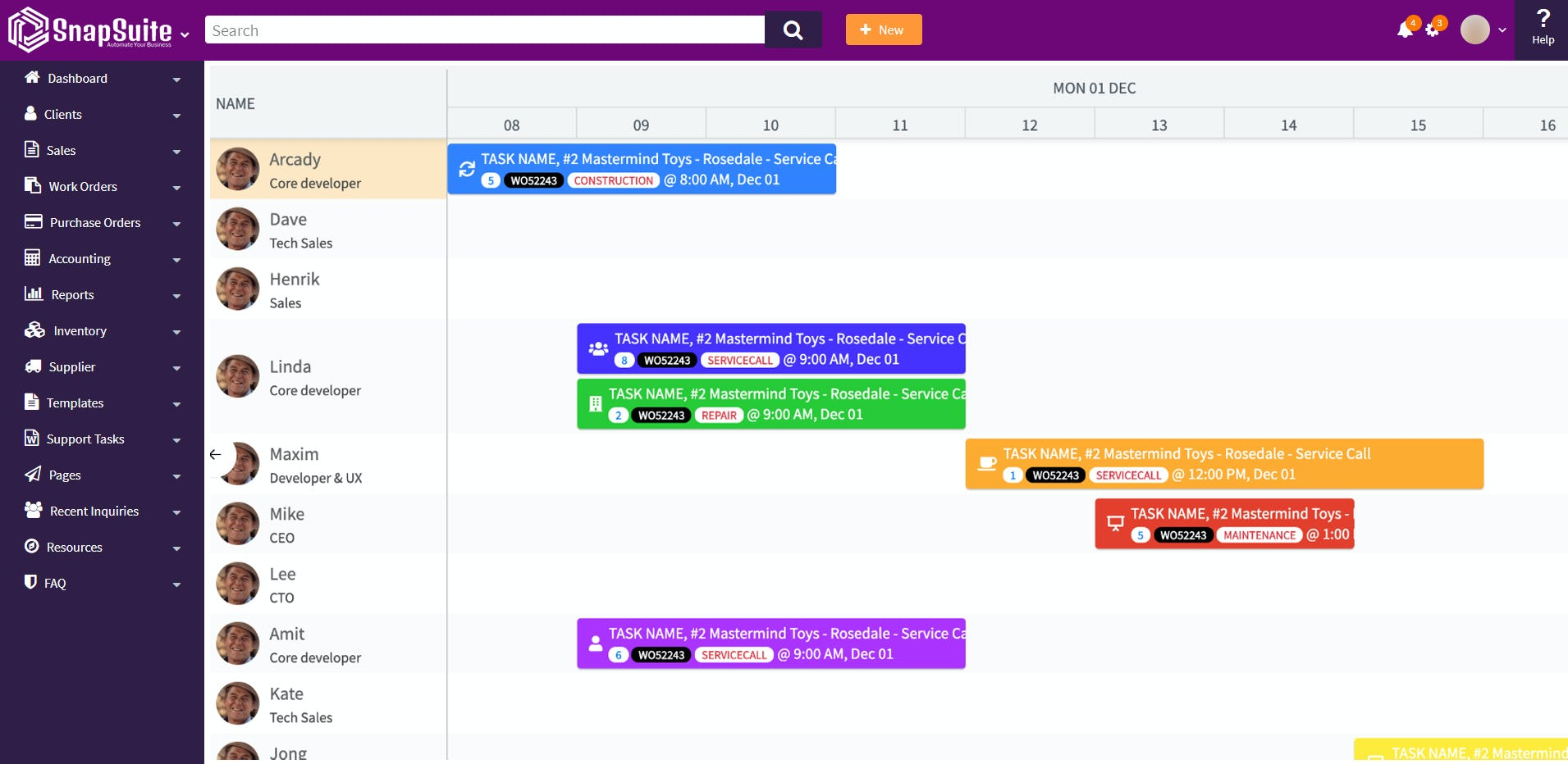 SnapSuite Software - Snapsuite scheduler