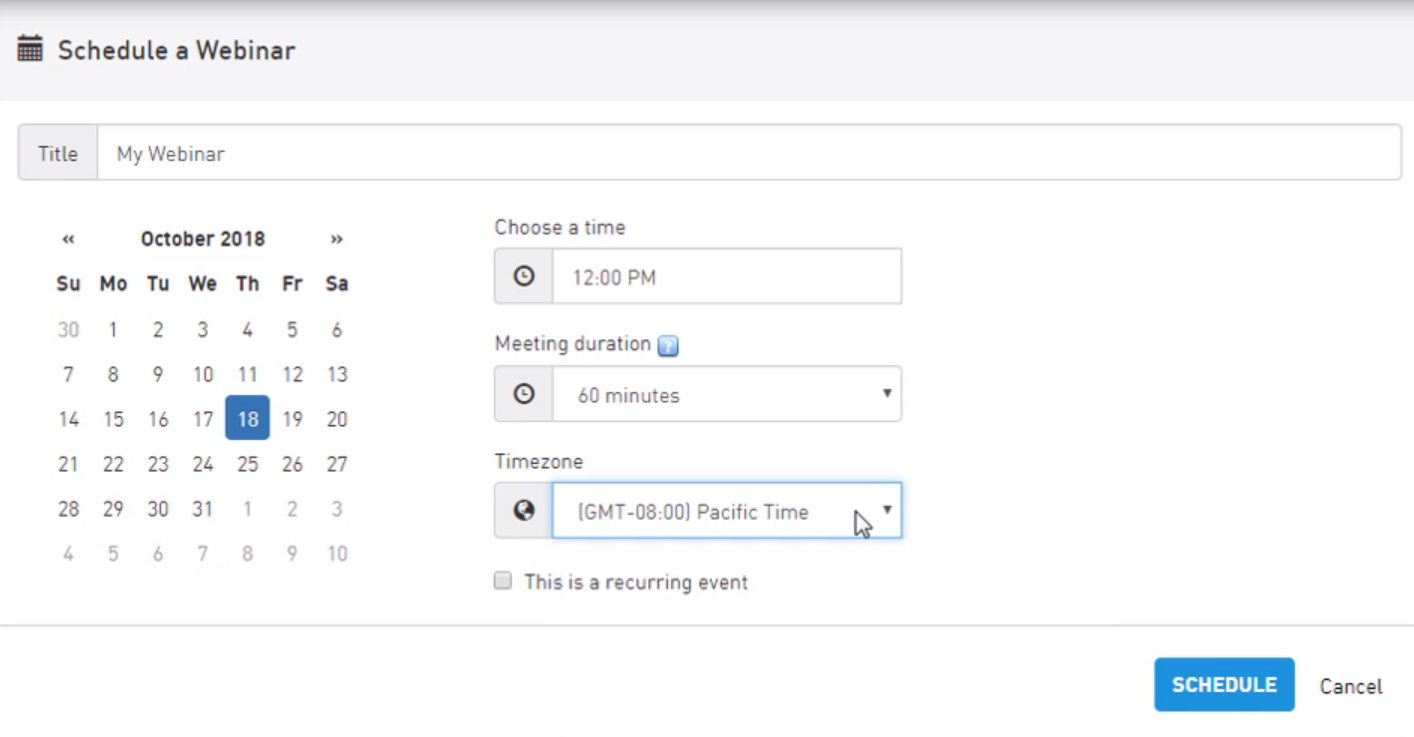 AnyMeeting scheduling