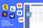Ninox screenshot: Integrate everythingwith Ninox API