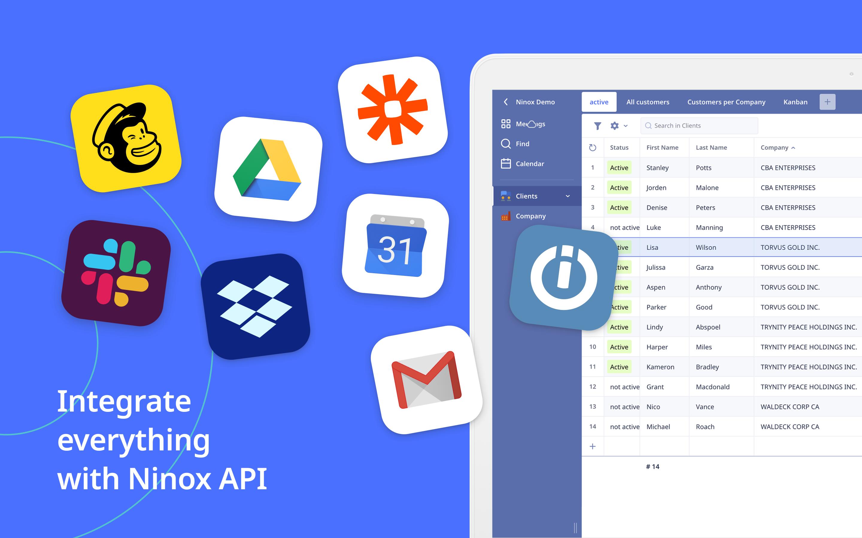 Integrate everythingwith Ninox API