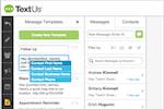 Capture d'écran pour TextUs :