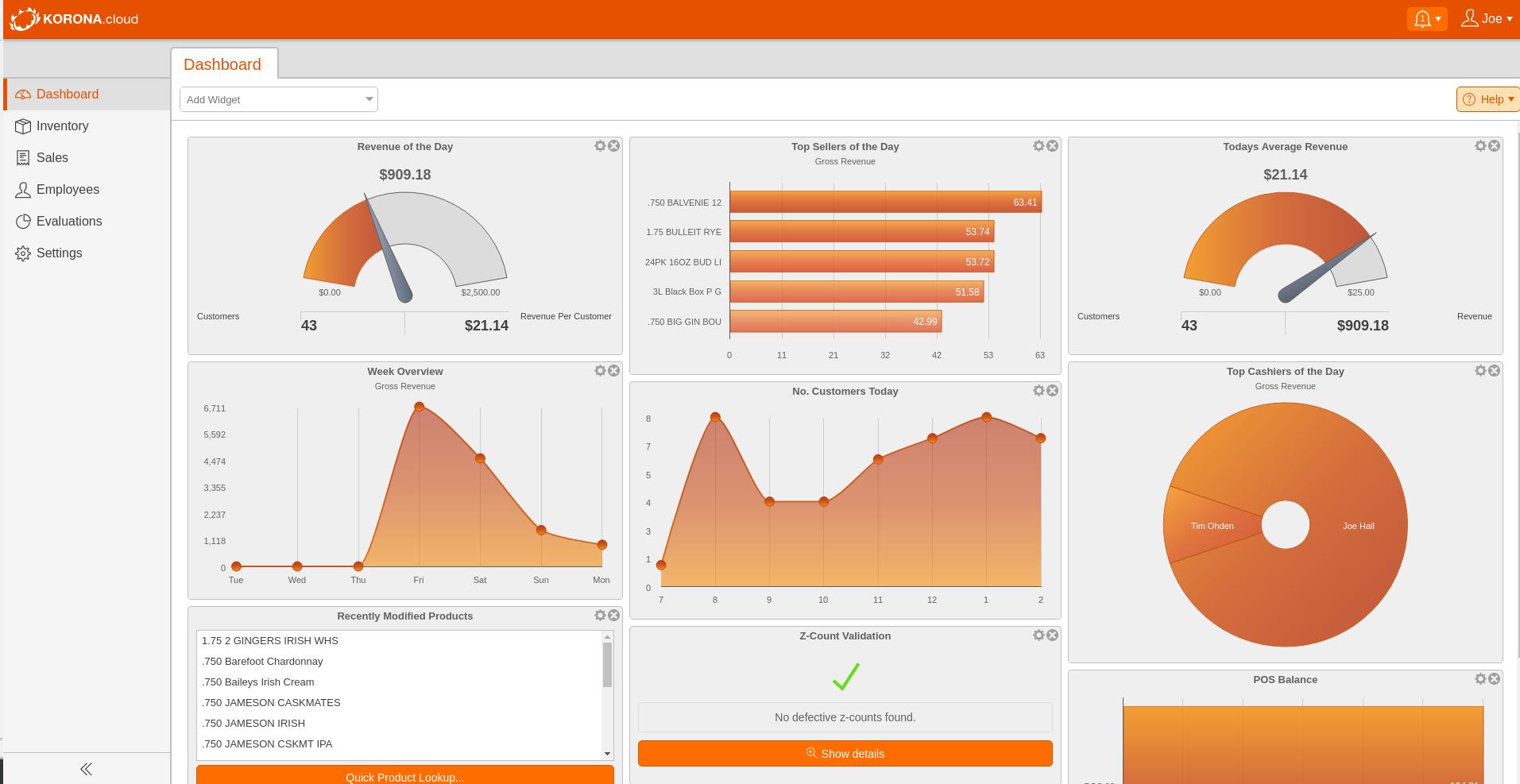 KORONA Software - KORONA Dashboard1