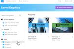 Snappa Screenshot: Snappa saved graphics