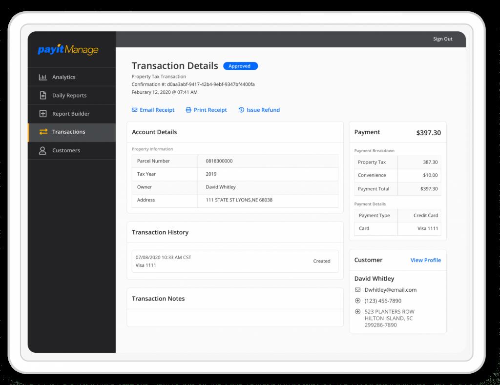 PayIt Software - PayIt Manage - Admin Portal