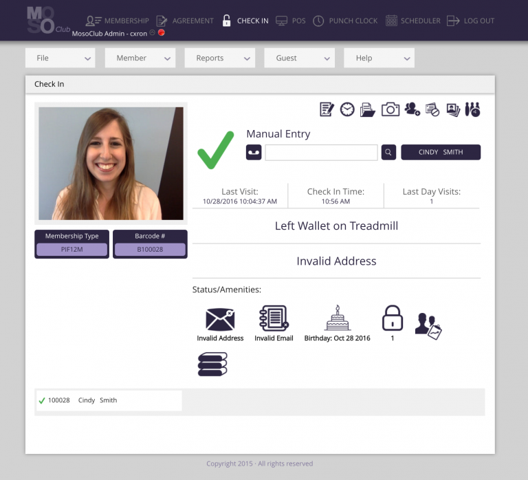 Front desk check-in works with key-tags, card readers and RFID (radio-frequency identification)
