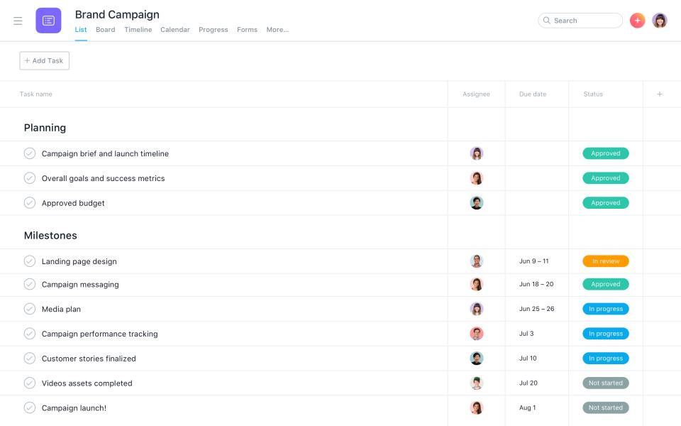 Create Task Lists