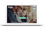 Captura de pantalla de Robly: An exit-intent pop-up offers leaving website visitors added incentives for joining the mailing list first