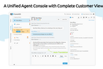 Comm100 Live Chat screenshot: A Unified Agent Console with Complete Customer View