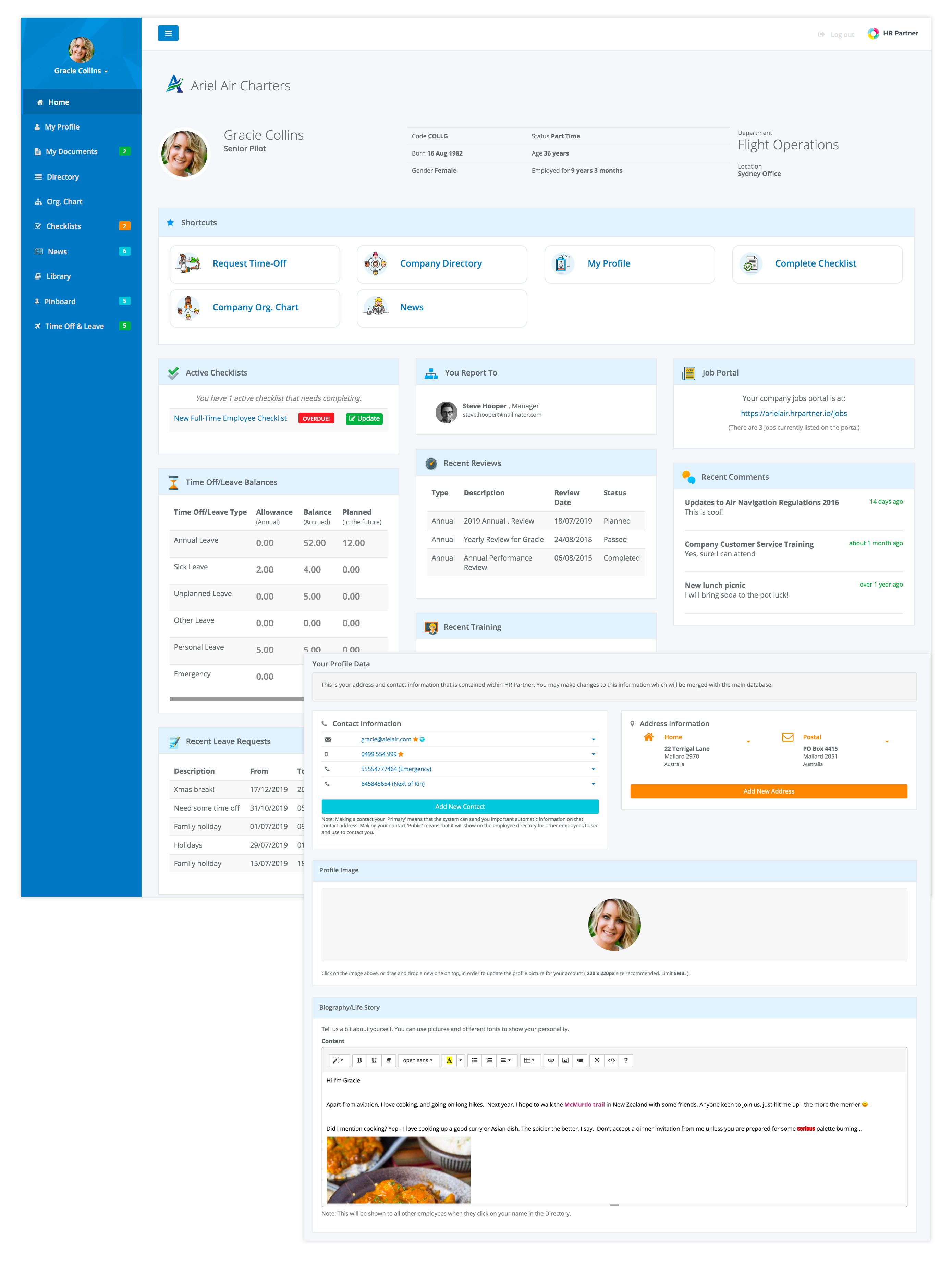 HR Partner Employee Portal