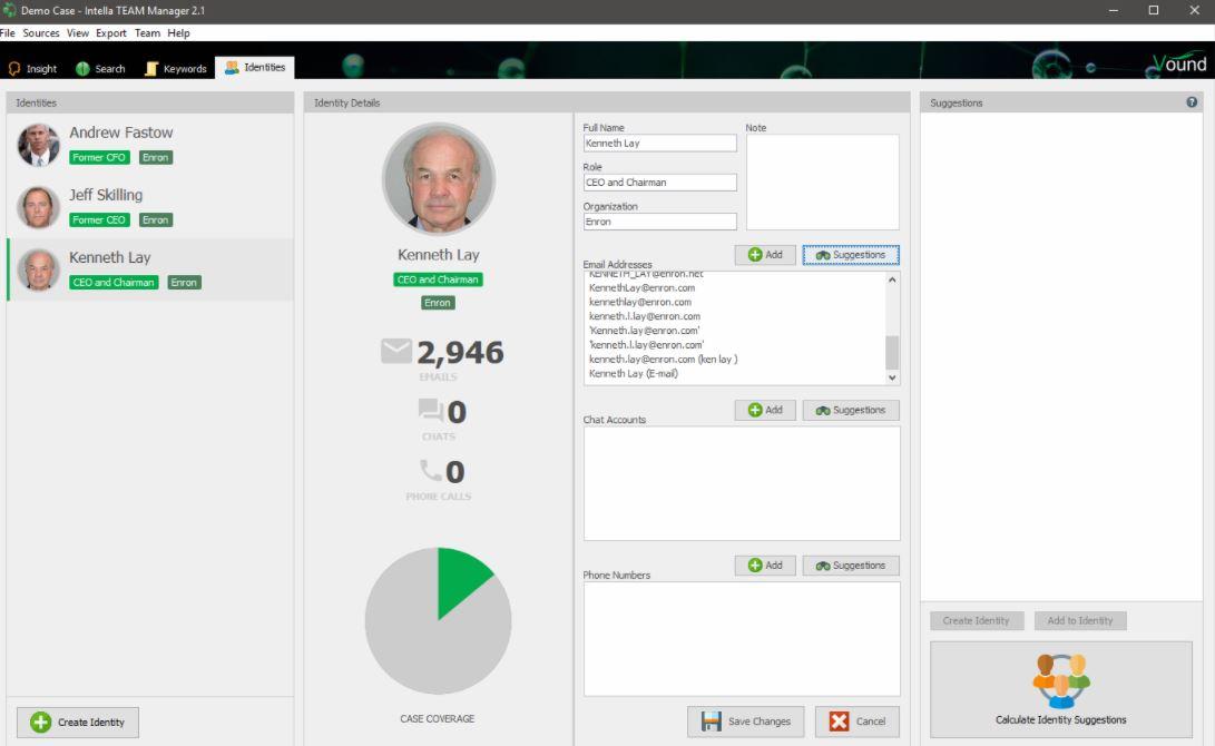 Intella manage identities