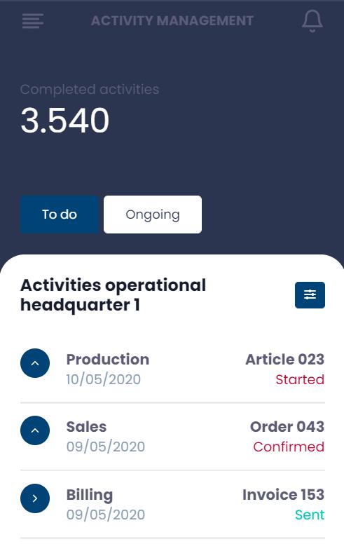 Open Bridge activity management