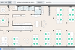 Skedda screenshot: Interactive floorplans and maps. See your floor plan live on the platform.
