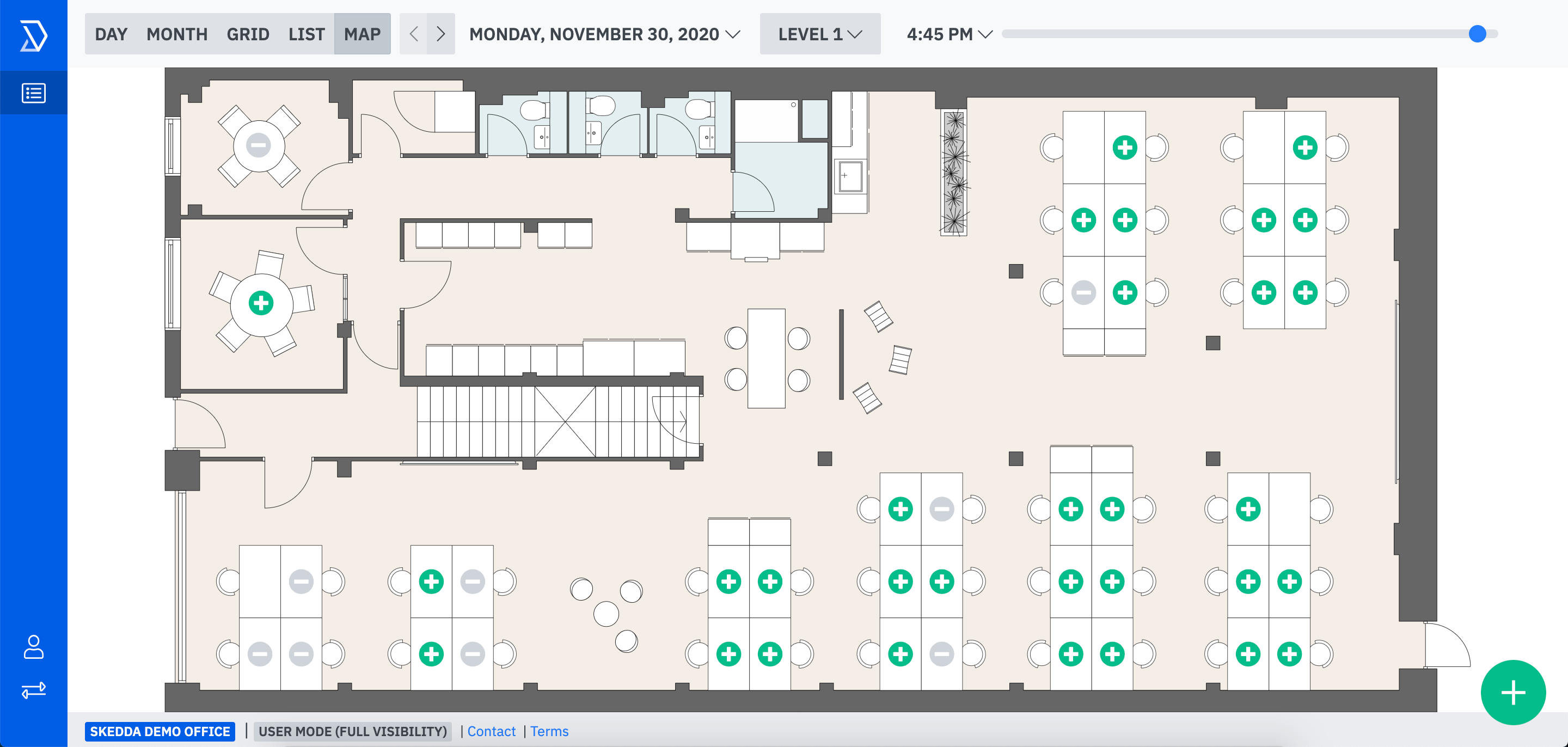 Interactive floorplans and maps. See your floor plan live on the platform.