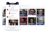 Blink screenshot: Blink's Directory, Direct & Group Messaging means you can reach anyone, anytime, without the need for email addresses or phone numbers. Co-ordinate disruption, identify and fix issues instantly, receive realtime updates and feedback from the frontline.