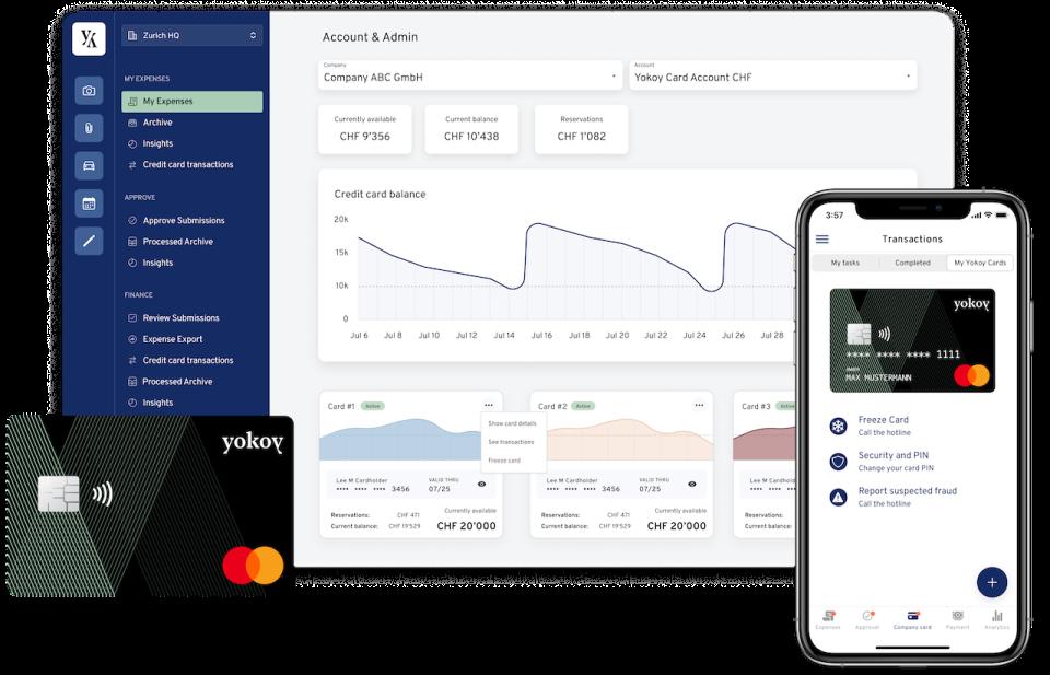 Yokoy Software - Dashboard for Credit Card