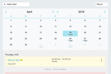 Recurring appointments can be scheduled for regular customers