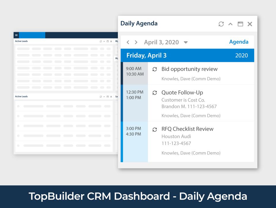 TopBuilder agenda management