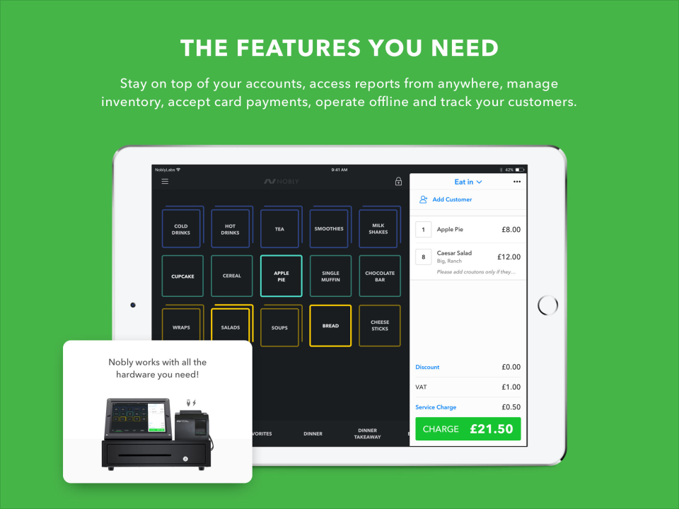 Nobly includes a range of features including inventory categorization