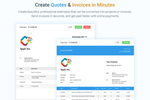 Avaza screenshot: Send online quotes & invoices in minutes.
