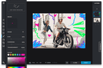 Pixlr Screenshot: Pixlr X drawing feature