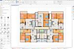 EDraw Max screenshot: Edraw Max floor plan design