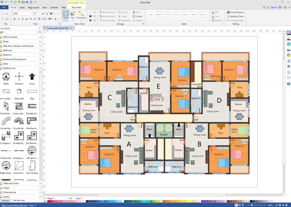 Edraw Max floor plan design