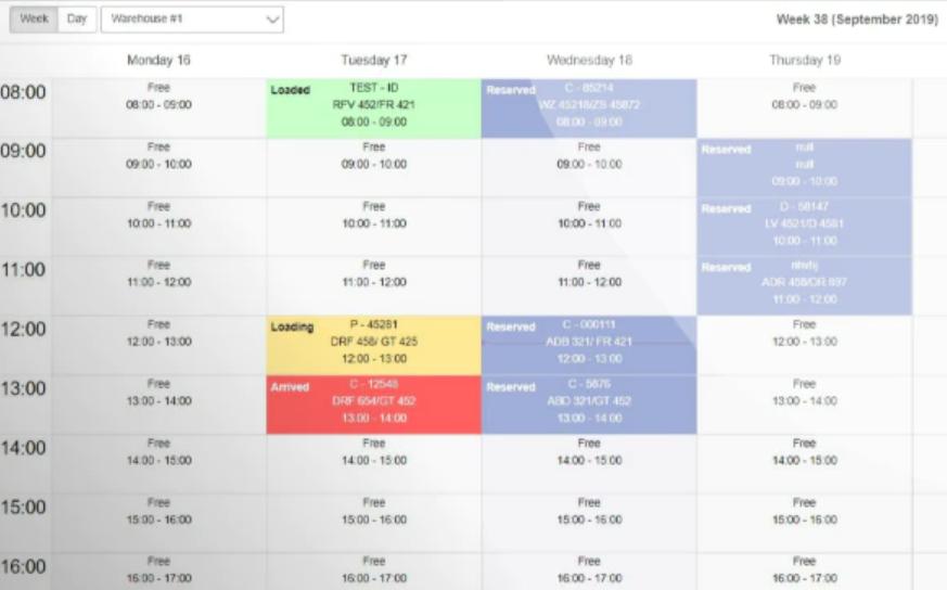 GoRamp time slot management