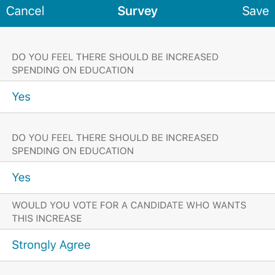 Capture rich data on voters or do simple polling