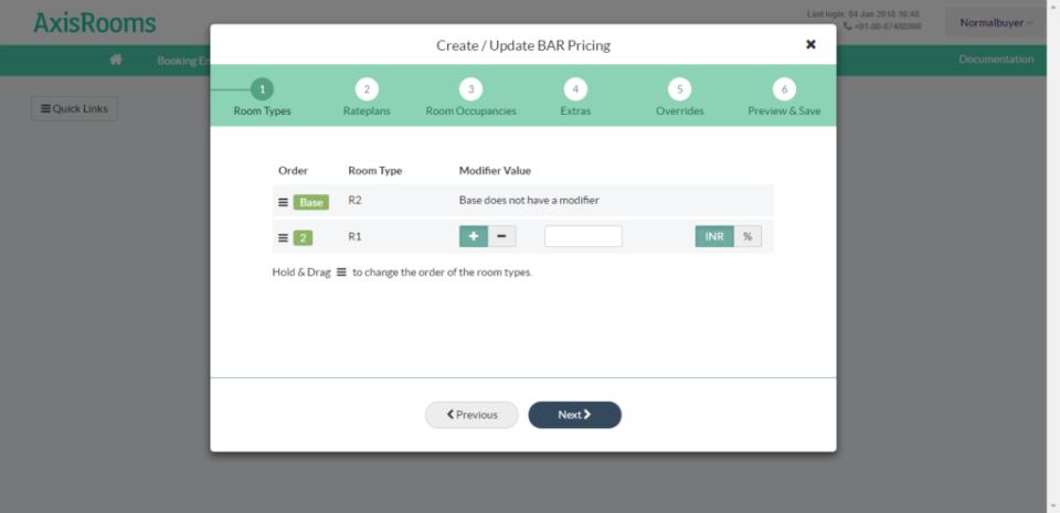 AxisRooms inventory controls