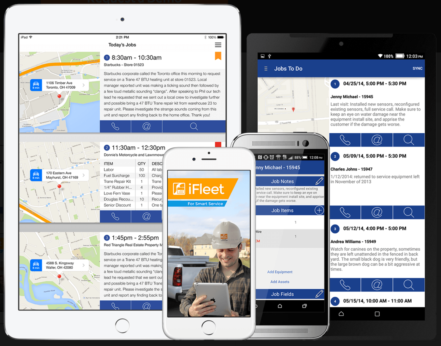 Go mobile with the iFleet app for iOS and Android.