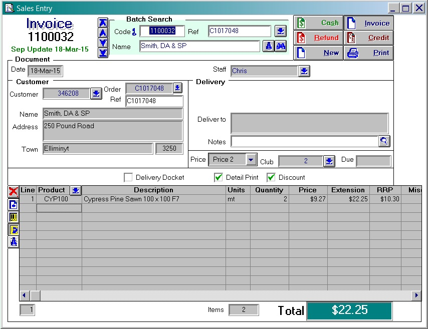 Acumen Software - Invoices