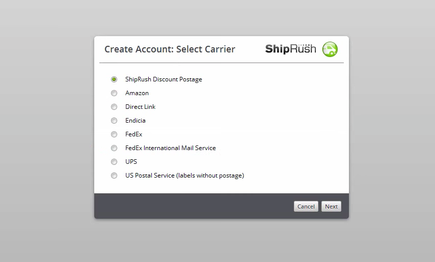 Create carrier account
