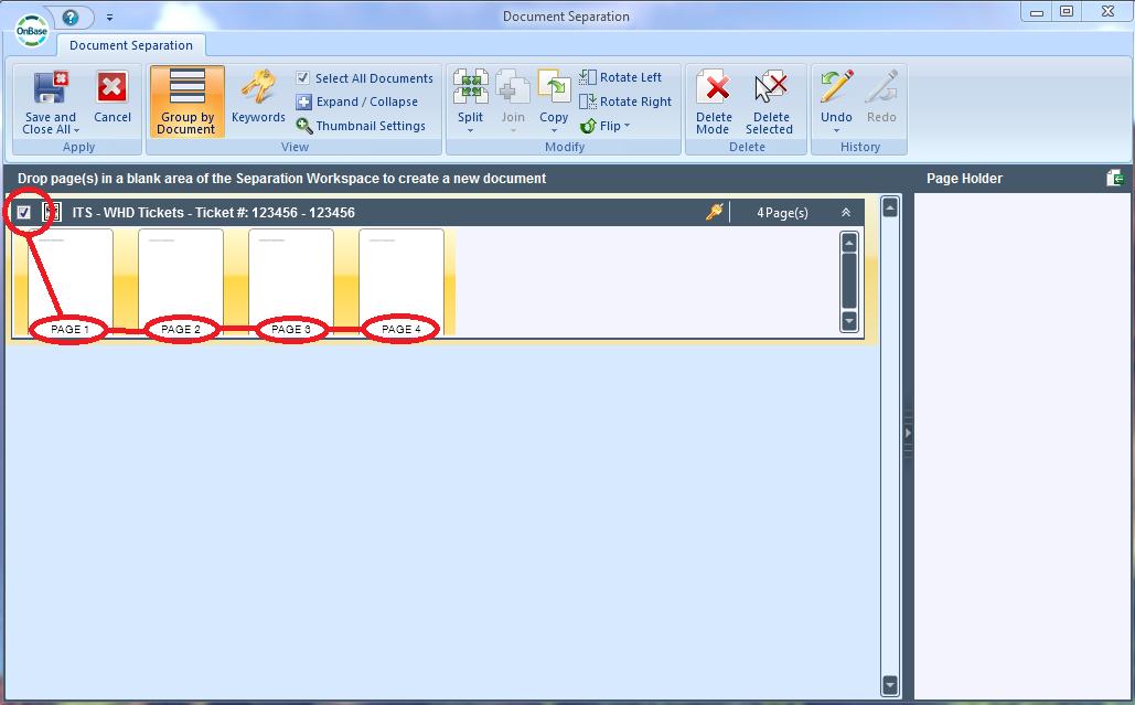 OnBase Software - OnBase Document separation
