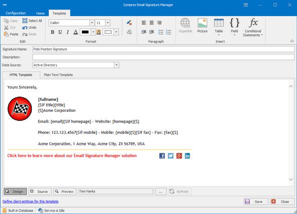 Email Signature Manager Logiciel - 1