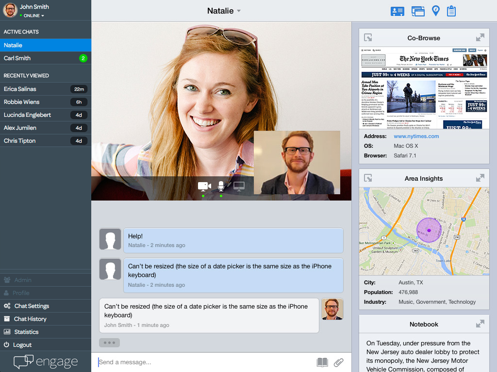 Engage Software - Video chat