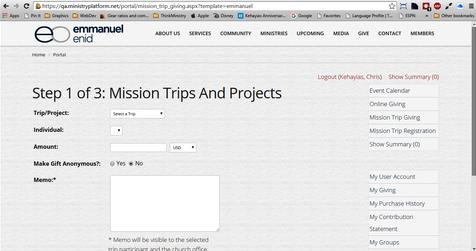 MinistryPlatform mission trips