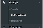 Sniply screenshot: Select call-to-actions in order to create a button, form, text, image, or hidden snip