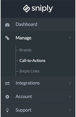 Select call-to-actions in order to create a button, form, text, image, or hidden snip