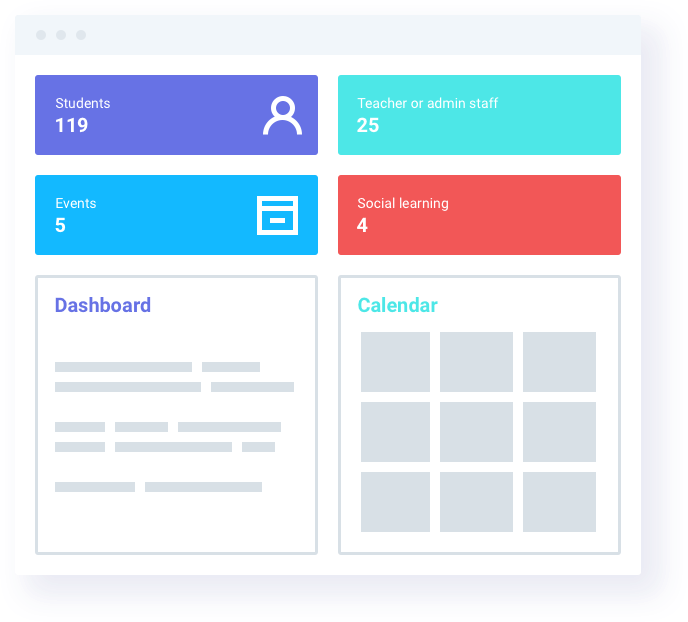 Classe365 provides dashboards for teachers, administrators, parents, and students