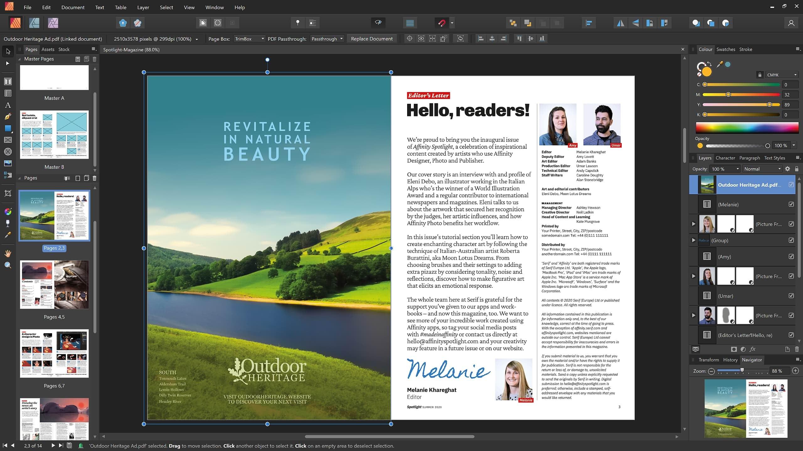 Affinity Publisher PDF passthrough