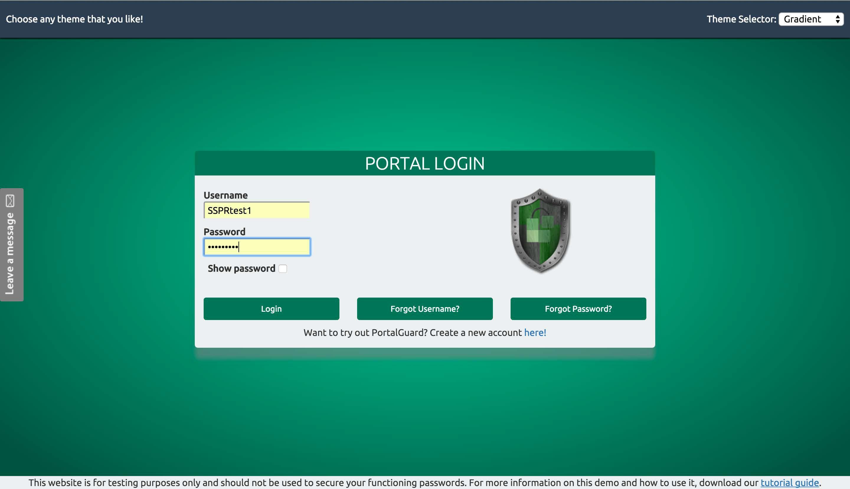 PortalGuard portal login