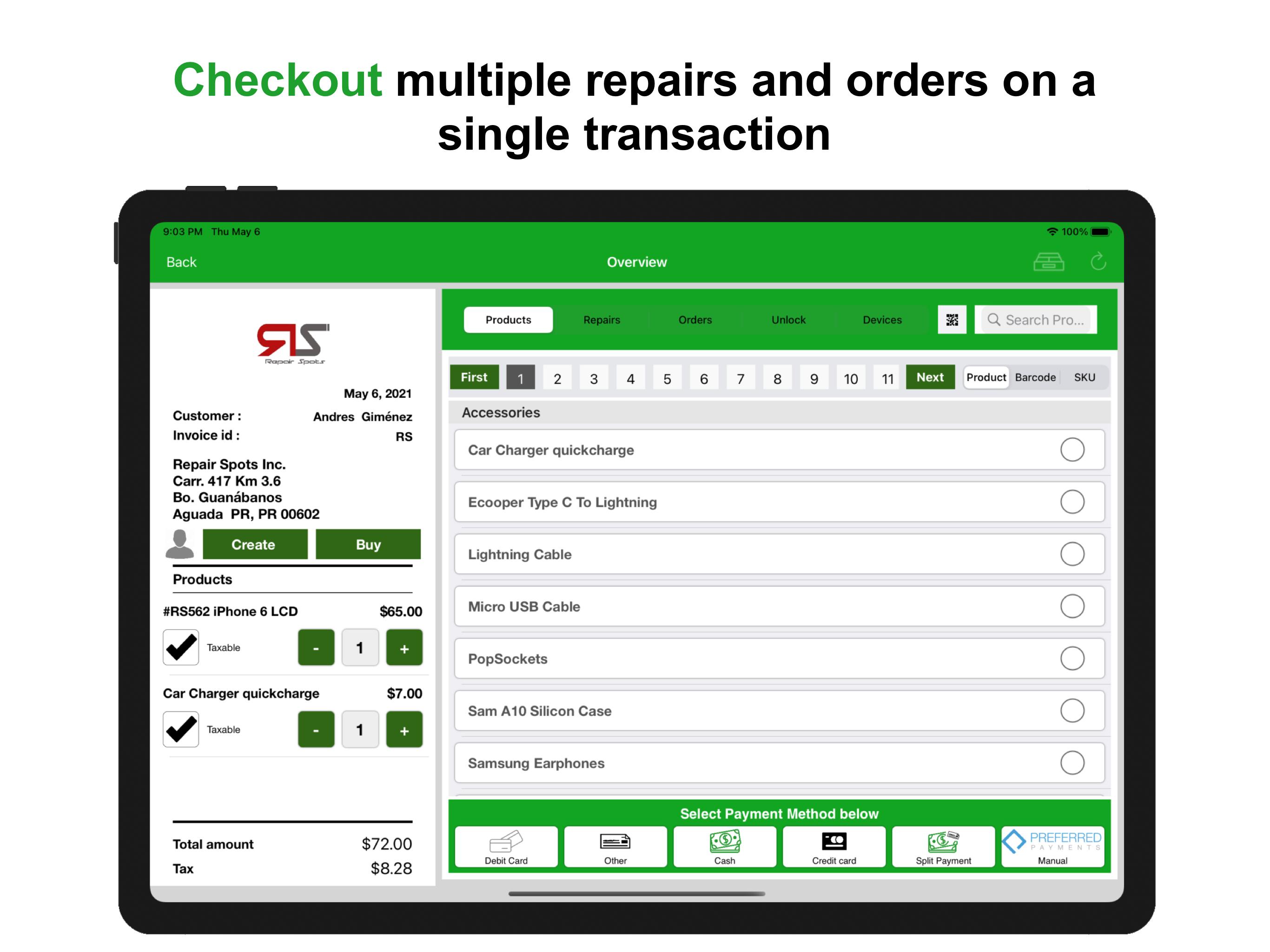 Checkout Screen