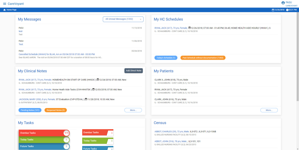 CareVoyant home page