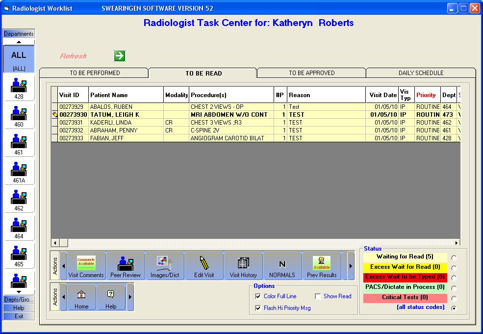 RISynergy Software - Radiologist Task Center