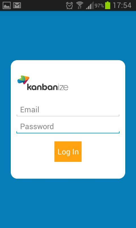 Kanbanize - Task Management - Login