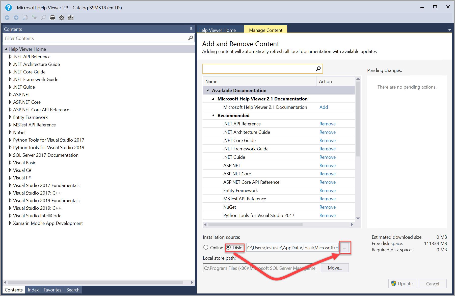 SQL Server manage content