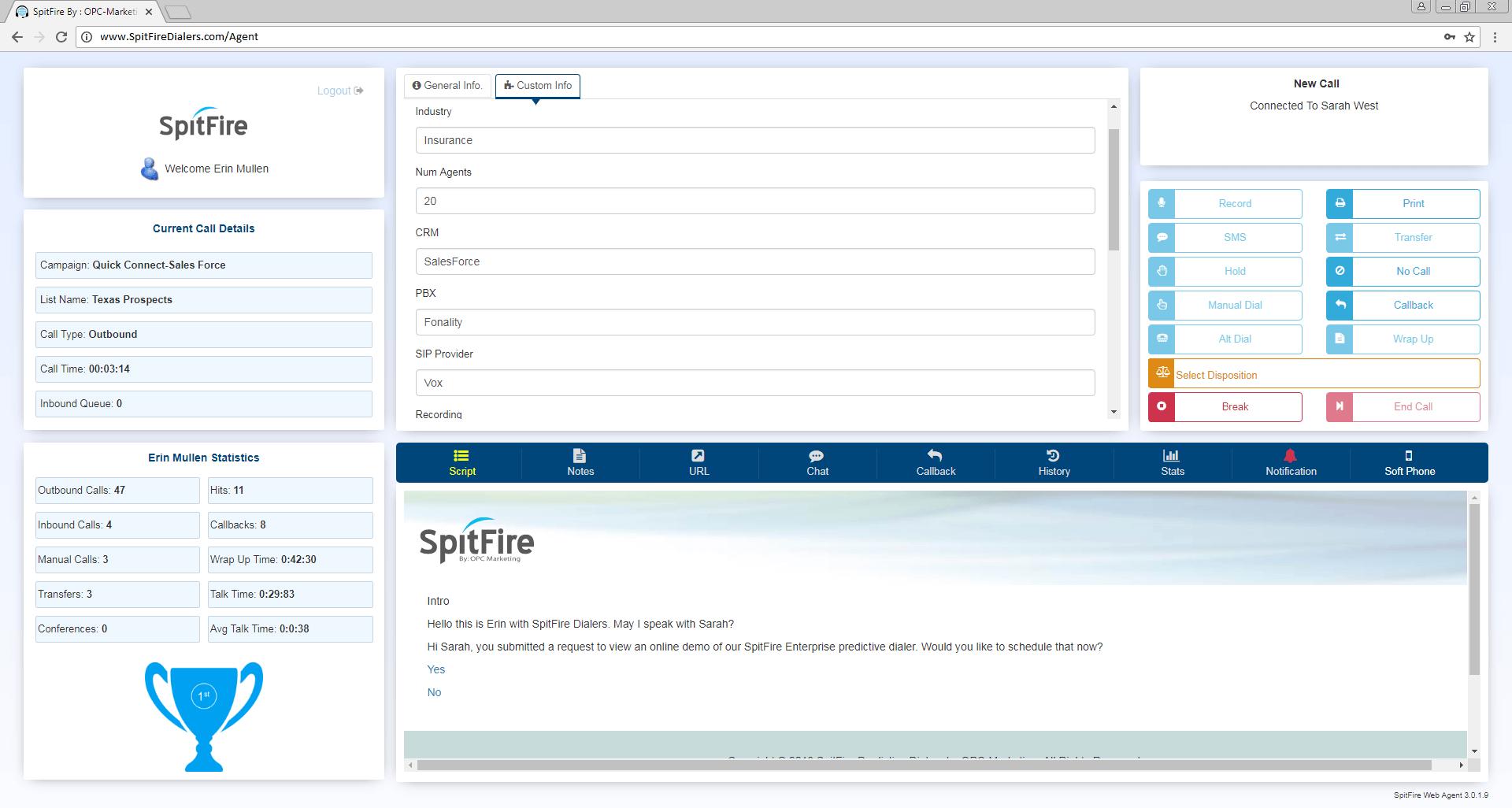 SpitFire Enterprise Custom Fields